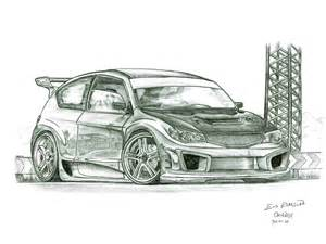 Subaru Drawing Subaru Drawing By Orangenes On Deviantart