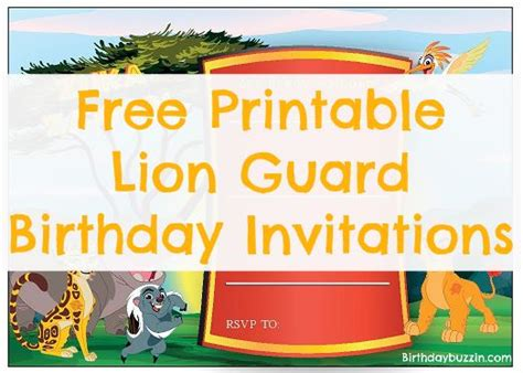 Free Guard Invitation Template Free Printable Lion Guard Birthday Invitations Birthday Buzzin