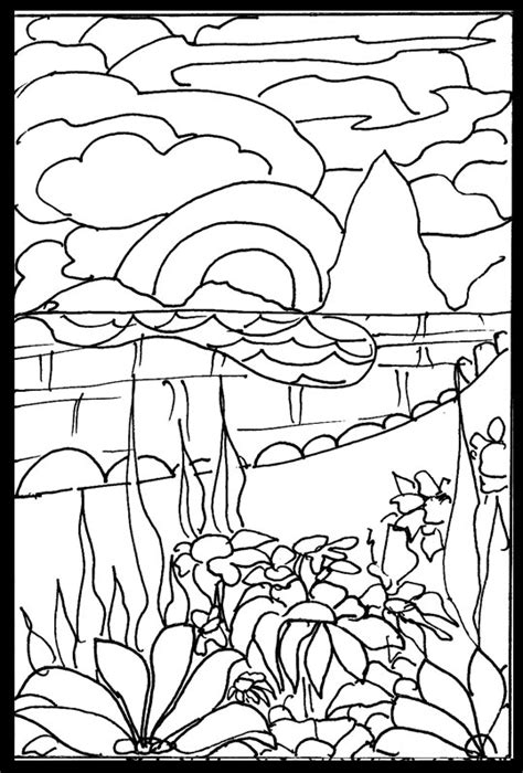 japanese garden coloring page free coloring pages august 2007