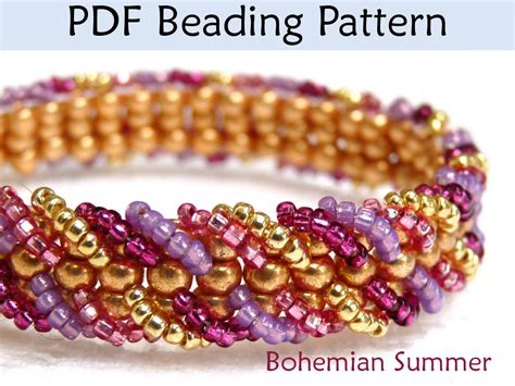how to do ladder stitch beading bohemian summer ladder stitch beading pattern by
