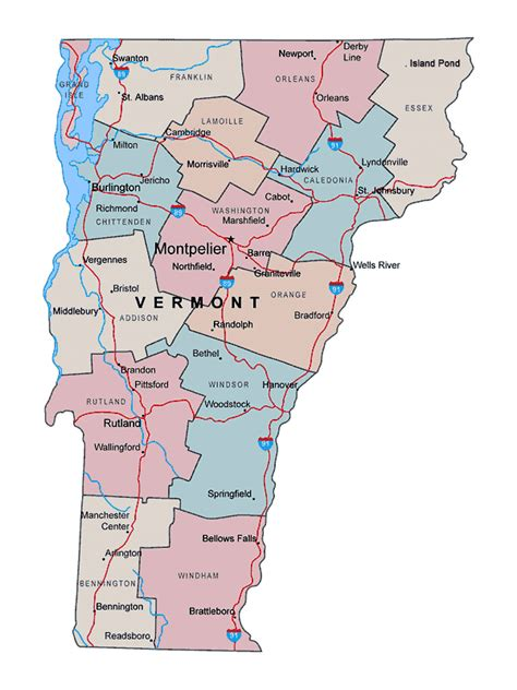 map of usa vermont map of vermont usa images