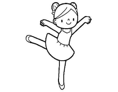 dibujos navideños para colorear en linea dibujo de bailarina de ballet para pintar y colorear en