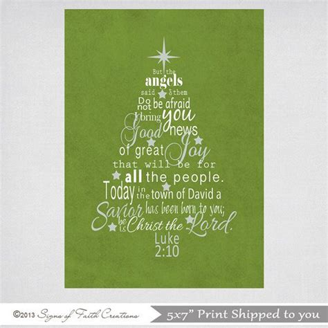 christmas tree printable scripture art with luke 2 bible