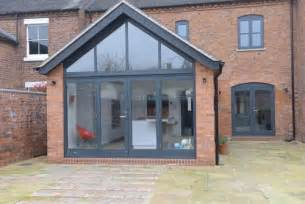 Sunroom Doors And Windows How Is The Gable End Glass Supported