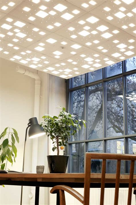 Ceiling Tile Light Elac Embroidered Light For Acoustic Ceilings Designboom