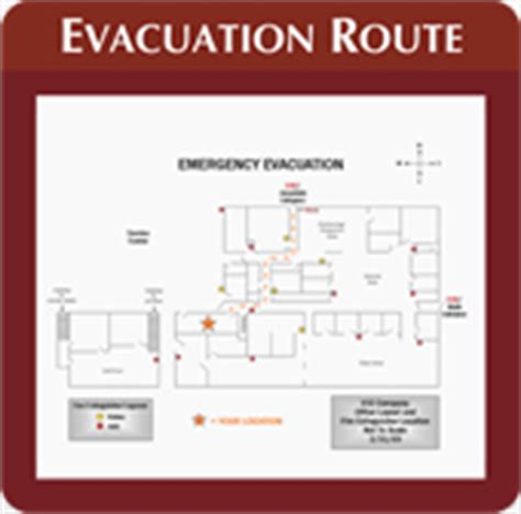 Create A Floor Plan Free Online evacuation map signs simply exit signs