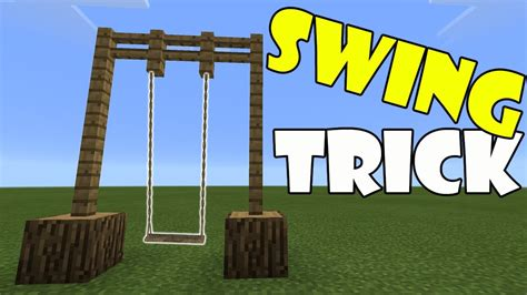 minecraft swing swing trick minecraft pe pocket edition mcpe youtube