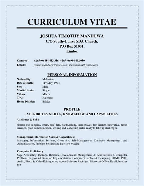Copy Of Cv by Curriculum Vitae Copy