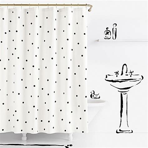 bed bath and beyond kate spade kate spade new york deco dot shower curtain bed bath