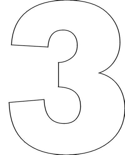 number 2 template free printable number stencils