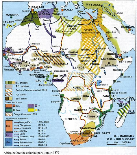 africa map 1800 africa before the colonial partition c 1870 size