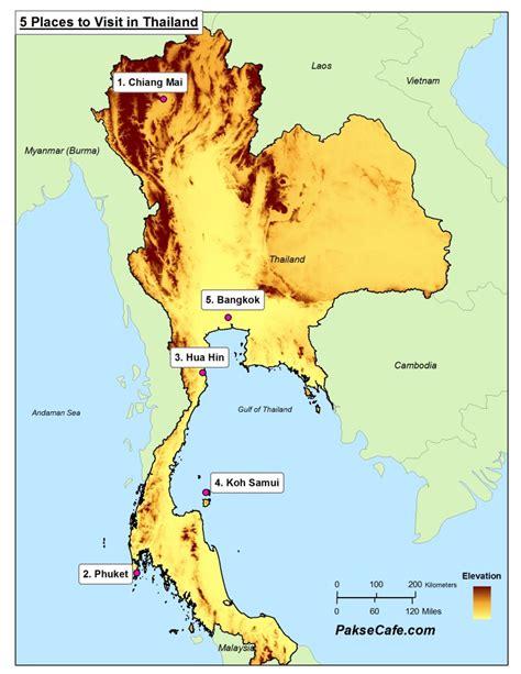 top  places  visit   thailand map pakse cafe