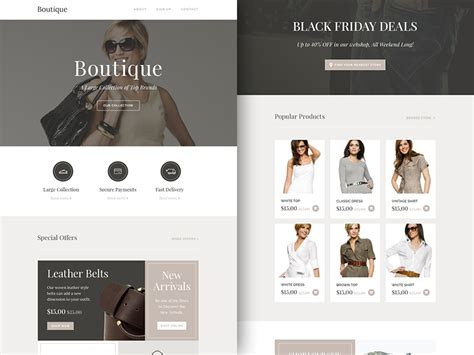Boutique Template by Newsletter Boutique Template Sketch Freebie