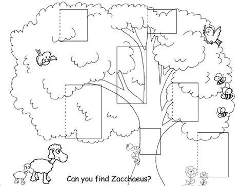 Activity Page Zacchaeus Crafts Where Can You Find Coloring Books