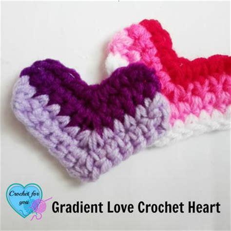 heart gradient pattern gradient love crochet heart allfreecrochet com