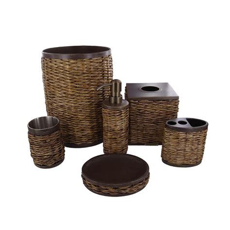 Bathroom Ensemble Sets Beddingstyle Bahama Retreat Wicker Bath Accessories