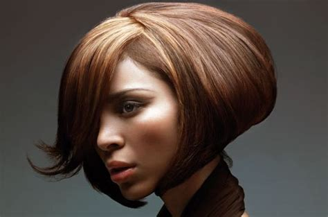 puffy bob hairstyles stylish puffy woman bob haircut with high lights and very