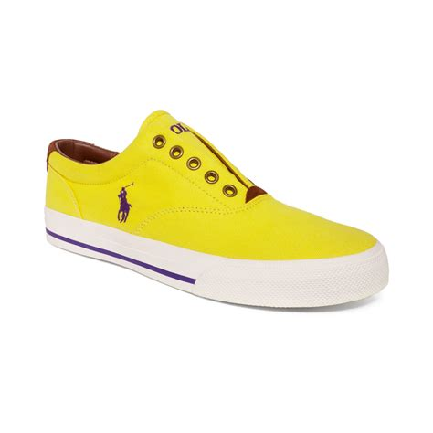 ralph polo shoes ralph polo vito sneakers in yellow for lyst