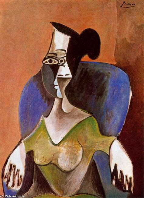 picasso woman in an armchair woman sitting in an armchair oil by pablo picasso 1881