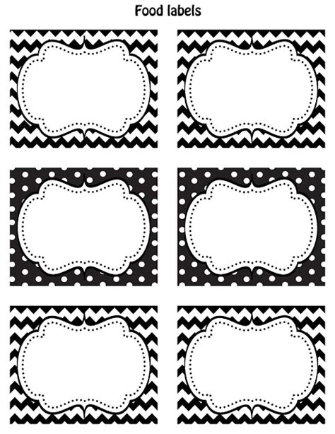 12 Customizable Candy Buffet Labels Candystore Com Table Label Template