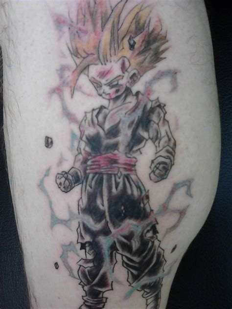 dbz tattoos fav gohan tattoos and