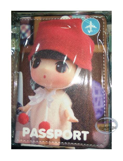 korean doll ddung passport holder cover travel accessories