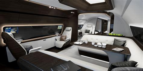 lufthansa technik unveils mercedes bizliner cabin designs