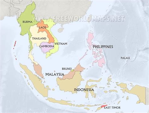 map of southeast asia with countries southeast asia maps