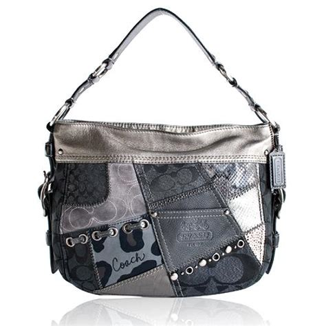 Coach Patchwork Purses - coach tonal patchwork hobo handbag