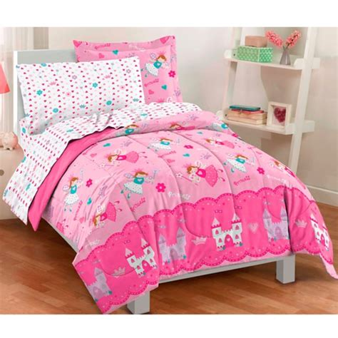 twin size bed in a bag dream factory magical princess twin size 5 piece bed in a