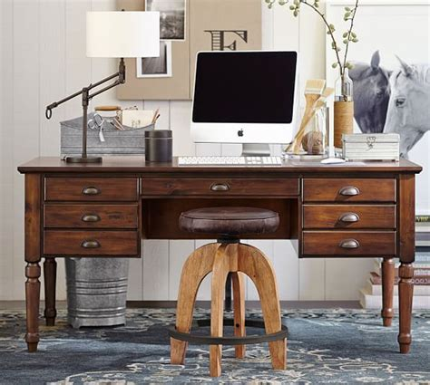 pottery barn desk l printer s keyhole desk pottery barn