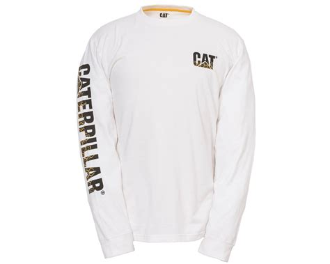 T Shirt Caterpillar White caterpillar custom banner sleeved t shirt 1510317