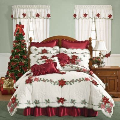 christmas bedspreads and comforters 1000 ideas about poinsettia on pinterest heartfelt
