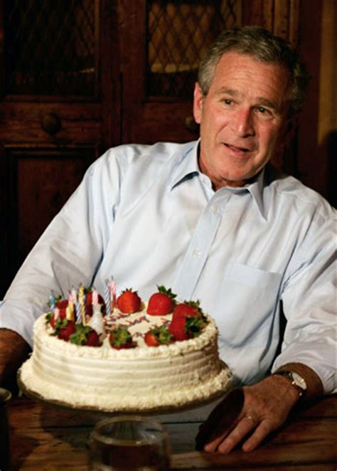 george w bush birthday president bush says turning 60 not so bad