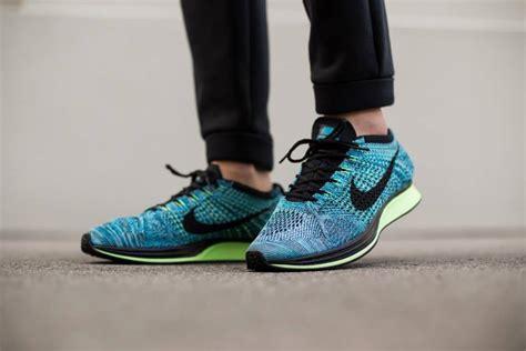 Sneakers Sepatu Nike Airforce Flyknit Racer Oreo Volt Premium40 44 nike flyknit racer blue lagoon where to buy