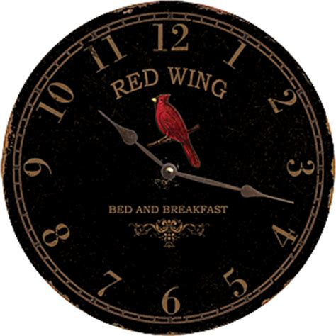red wing bed and breakfast red wing bed and breakfast cardinal wall clock