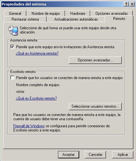 descargar escritorio remoto windows xp 191 como configurar escritorio remoto multiusuario en windows xp