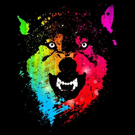 design t shirt neon colors daily tee the neon wolves t shirt design by moncheng