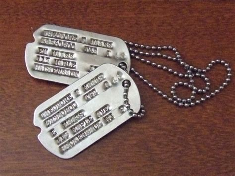 ww2 tags ww2 notched tags with nok c 1942 collectors weekly