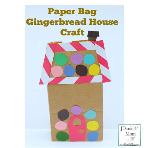 Paper Bag House Craft - paper bag gingerbread house craft jdaniel4s
