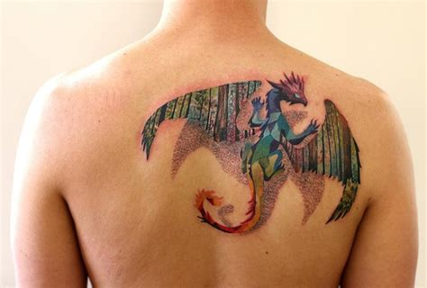 dragon tattoos on back sleeve best design ideas