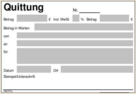 Microsoft Word Vorlage Quittung 8 quittungsvordruck bewerbungsschreiben