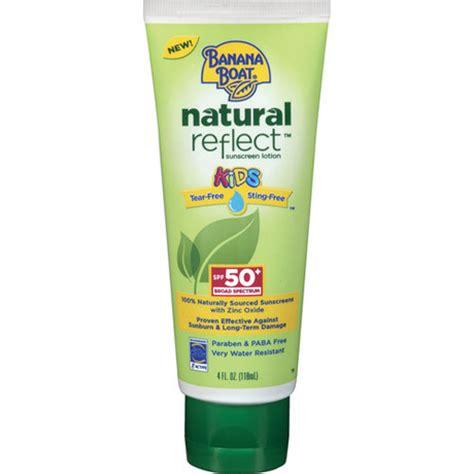 banana boat natural sunscreen ingredients banana boat natural reflect kids sunscreen lotion