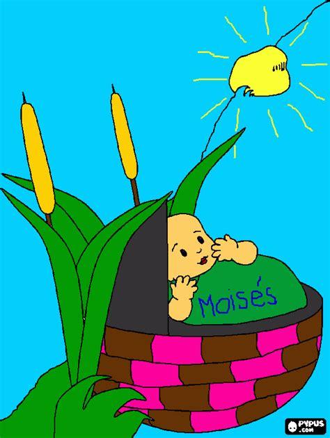 imagenes biblicas para colorear de moises bebe moises via para colorear bebe moises via para imprimir