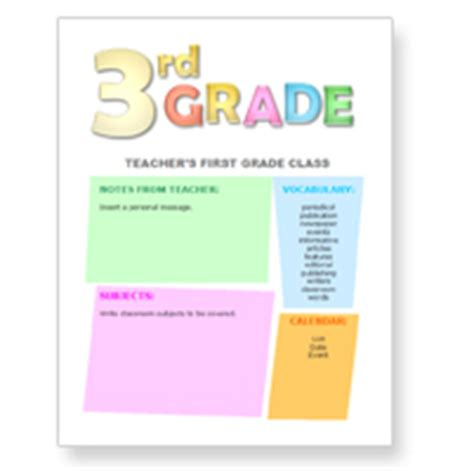 Third Grade Newsletter Template free newsletter templates for teachers from worddraw