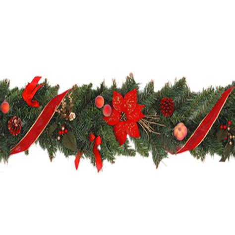 Decorated Garland by 6 Foot Decorated Chrismas Garland