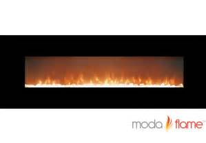 electric fireplace with glass crystals moda 72 quot skyline linear wall mounted