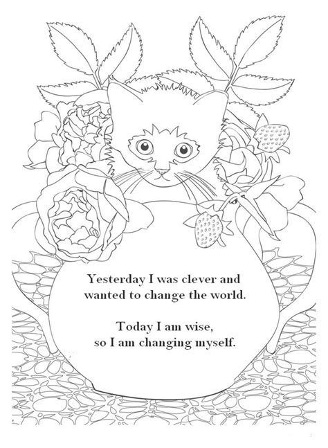 printable zen quotes zen quote coloring pages zen and anti stress coloring
