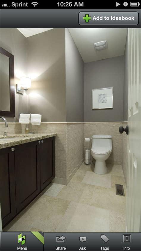Grey Colored Bathrooms by Bathroom Grey With Sand Colored Tile Bathroom Reno