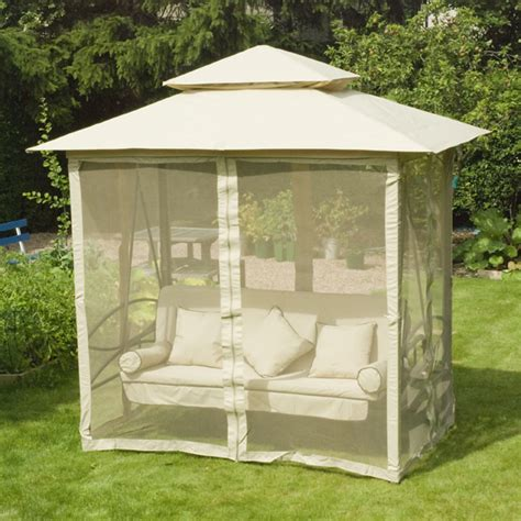 gazebo swing greenfingers regency 3 seater swing seat natural on sale